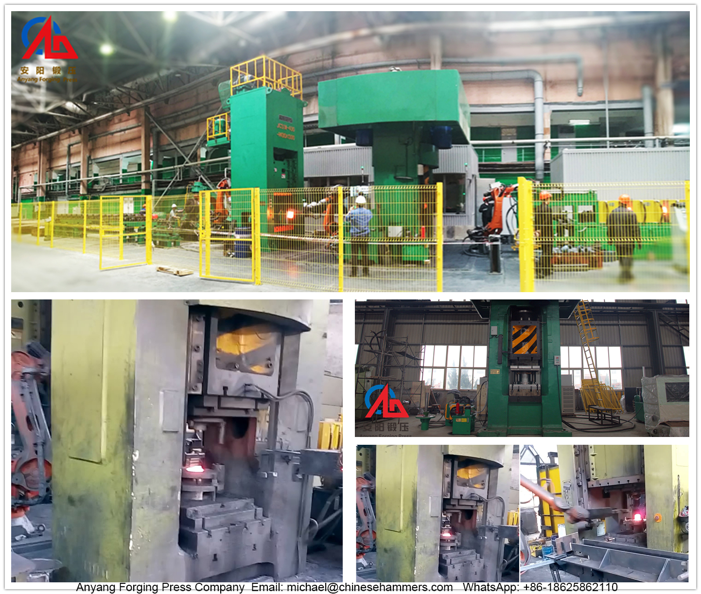 Electric screw press automatic flange forging line
