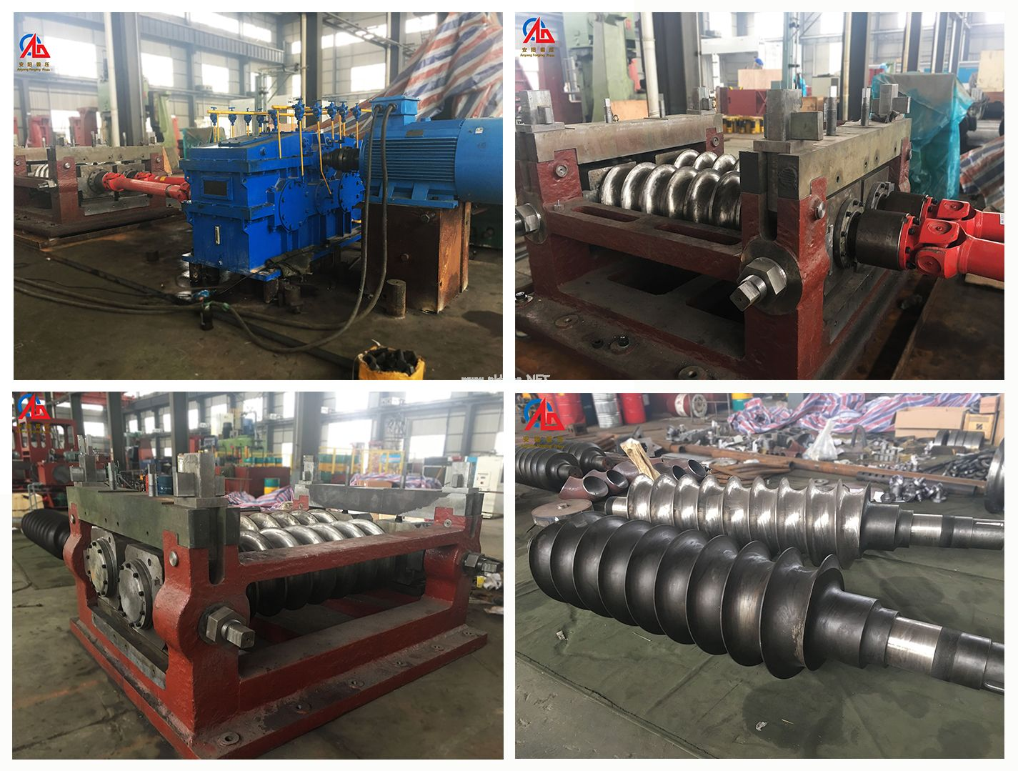 High-efficiency steel ball forging & rolling automatic production line