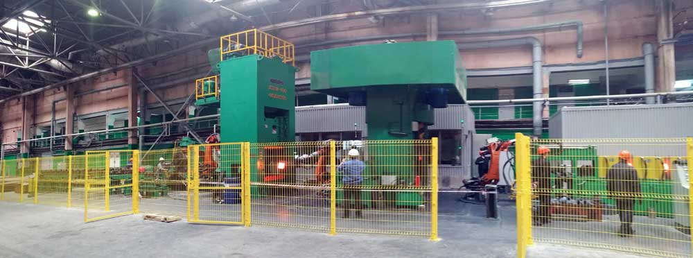 electric screw press automation forging line
